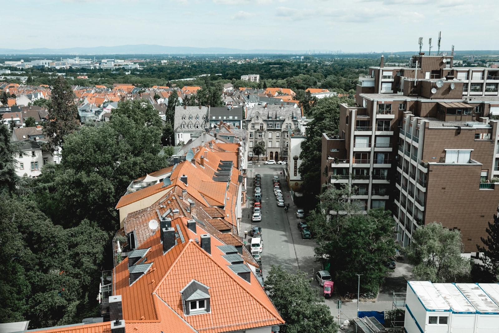 Blick über Darmstadt