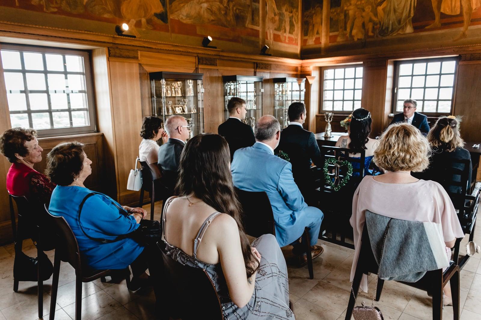 Trauzeremonie im Hochzeitsturm Darmstadt